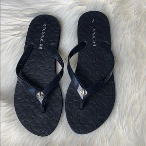 Coach Abigail flip-flops dark blue